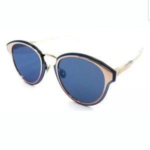 DIOR NIGHTFALL ROSE GOLD/BLUE MIRROR SUNGLASSES